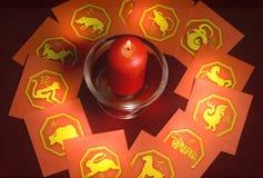 占星术汉语 库存照片