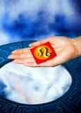 占星术狮子符号 免版税图库摄影