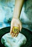 占星术符号处女座 库存照片