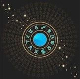 占星术符号黄道带 库存图片