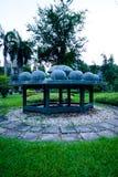 占星术纪念碑在Lumpini公园,曼谷 免版税库存图片