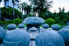占星术纪念碑在Lumpini公园,曼谷 免版税库存照片