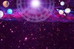 占星术背景 免版税库存图片