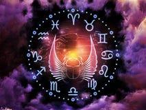 占星术背景 库存图片
