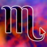 占星术蝎子符号 库存图片
