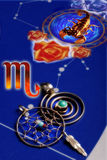 占星术蝎子符号 免版税库存图片