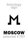 占星术:小行星莫斯科 图库摄影