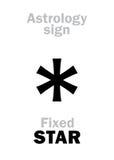 占星术:被修理的星 免版税库存图片