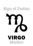 占星术:黄道带处女座的标志未婚 图库摄影