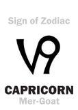 占星术:黄道带摩羯座的标志梅尔山羊 图库摄影