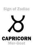 占星术:黄道带摩羯座的标志梅尔山羊 免版税图库摄影