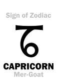 占星术:黄道带摩羯座的标志梅尔山羊 免版税库存照片