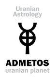 占星术:ADMETOS ( uranian planet) 免版税库存图片
