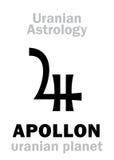 占星术:APOLLON ( uranian planet) 库存照片