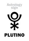 占星术:PLUTINO一点行星 免版税图库摄影
