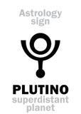占星术:PLUTINO 库存图片