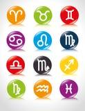 占星术黄道十二宫 免版税库存图片