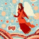 占星术黄道带标志处女座 一部分的一套占星标志 图库摄影