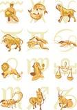 占星符号 库存图片