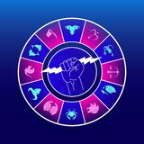 占星象/商标 艺术例证 向量例证