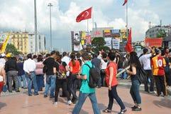 占领Taksim 图库摄影