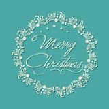 贺卡为圣诞快乐庆祝俯就 向量例证