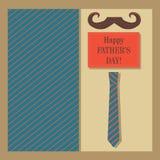 贺卡为父亲节 设计的元素反对柔和 免版税图库摄影