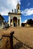 卡伊拉泰在老教会封锁了砖塔边路 库存照片