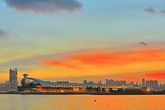 卡伊群岛达巡航机场主楼,香港 库存照片