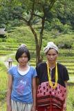 卡伦小山部落家庭画象  图库摄影
