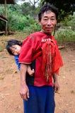 卡伦生活贫穷村庄村民 免版税库存照片