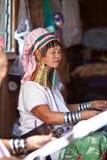 卡伦padaung部落妇女 图库摄影