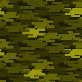 卡其色的军事伪装无缝的样式军队纹理一致的背景和衣物时尚物质绿色战士 免版税库存照片