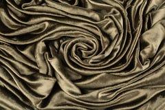 卡其色的天鹅绒特写镜头 纹理和背景的织品宏指令 库存照片