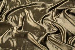 卡其色的天鹅绒特写镜头 纹理和背景的织品宏指令 免版税库存照片