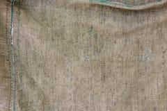卡其色的颜色老被风化的织品背景 免版税库存照片
