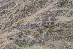 卡兹别克山山麓小丘的家庭教会  库存照片