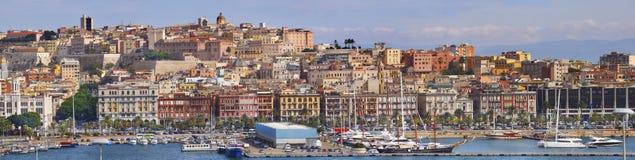 卡利亚里全景撒丁岛 免版税库存照片
