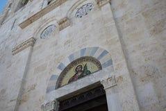 卡利亚里大教堂看法  免版税图库摄影