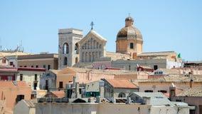 卡利亚里大教堂,撒丁岛,意大利 库存照片