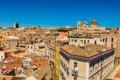 卡利亚里屋顶在Sardegna 库存图片