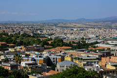 卡利亚里看法,撒丁岛,意大利的首都 免版税库存照片