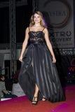 卡利亚里,意大利- 2015年11月22日:发现Extro时尚、头发和构成在Fiera二卡利亚里- Sardegna 免版税库存照片
