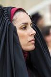 卡利亚里,意大利- 2017年5月1日:361 Sant ` Efisio -撒丁岛宗教队伍  免版税库存照片
