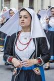 卡利亚里,意大利- 2017年5月1日:361 Sant ` Efisio -撒丁岛宗教队伍  免版税图库摄影