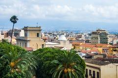 卡利亚里,撒丁岛,意大利的区域的资本看法  库存照片