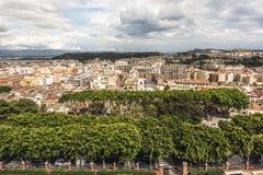 卡利亚里,撒丁岛,意大利都市风景  库存图片