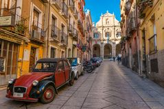 卡利亚里-撒丁岛,意大利 免版税图库摄影
