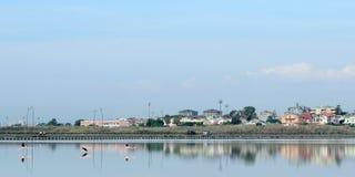卡利亚里水池  免版税库存照片