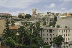 卡利亚里castello 库存图片